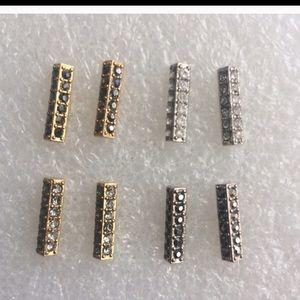 Jessica Elliot Jewelry - Double Row Pave Swarovski Earrings