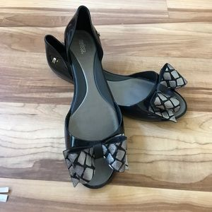 Melissa Shoes - Adorable Melissa Seduce XII Flats with bow so 10