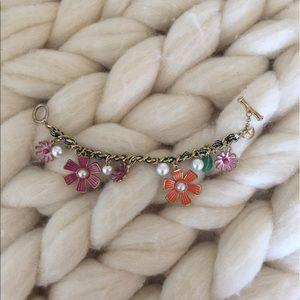 Betsy Johnson Laced Chain Bracelet