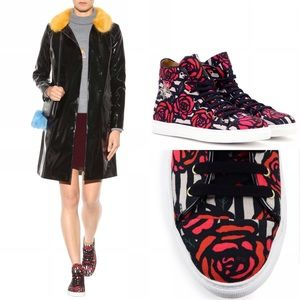 Charlotte Olympia Shoes - Charlotte Olympia Rose print high-top sneakers 7