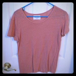Zara basic t-shirt, size large, peachy color