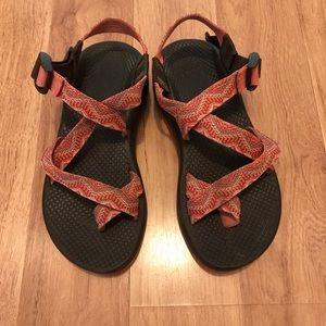 Chacos Shoes - Chacos Cute Orange Embroidered Sandals Size 7