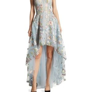 Marchesa Dresses & Skirts - Marchesa Notte Embroidered Tulle hi-lo gown