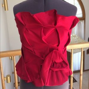 Rampage Other - Rampage ruby red corset