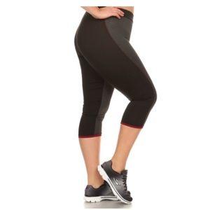 Pants - (Plus) Black/ gray athletic pants