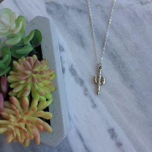 Simple Sanctuary Jewelry - Silver Plated Cactus Necklace