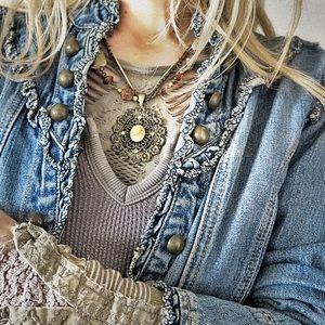 rave Jackets & Blazers - Feminine denim jacket L