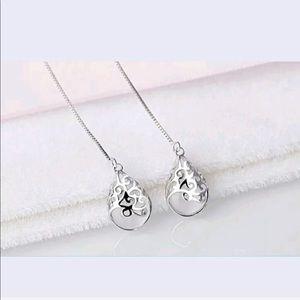 Jewelry - white Opal, silver 925 ss, tear drop earrings