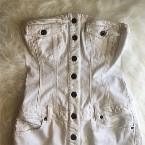 ae3fd1a73b Guess Dresses   Skirts - Guess jeans white denim tube top dress