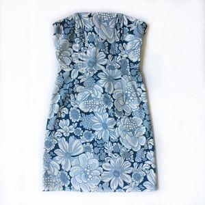 Tibi Dresses & Skirts - Tibi strapless back lace up dress
