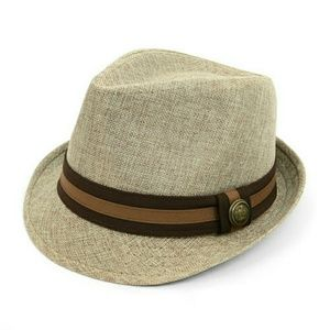 Westend Other - Brown Two Tone Fedora with Button Band