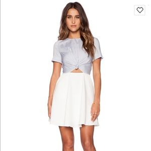 Line & Dot Dresses & Skirts - Line & Dot Wonder Tied Dress in Tiny Stripe Melody