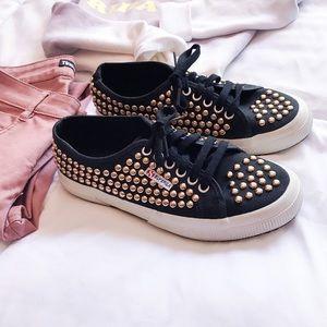 Superga Shoes - SUPERGA 2750 rose gold studded sneakers🙌🏼