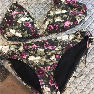 Target large bathing suit top and bottom