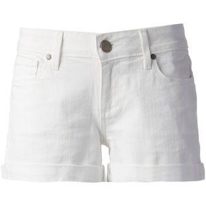 EUC PAIGE White Distressed Jean Short