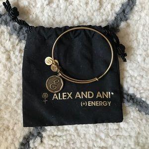 Alex And Ani Jewelry - Alex and Ani E Initial Bracelet Gold