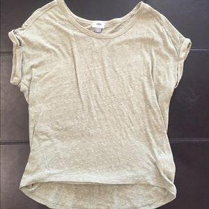 Old Navy Hi-Lo T-Shirt Olive Green Medium