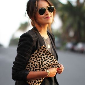 Clare Vivier Handbags - Clare V Vivier Calfhair Leopard Pouch