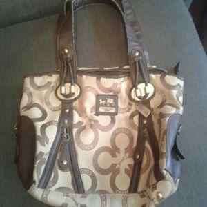 Vintage Coach jacquard bag