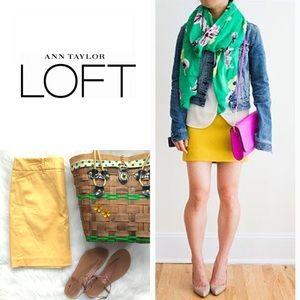 LOFT Mustard Skirt • Yellow Chino Skirt