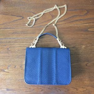 Blue bag phyton print