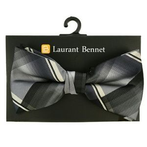 Laurant Bennett Other - Gray and Black Plaid Bow Tie