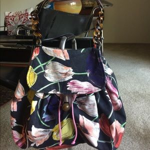 Miss Albright Handbags - MISS ALBRIGHT FLORAL FABRIC SHOULDER BAG - SUMMER