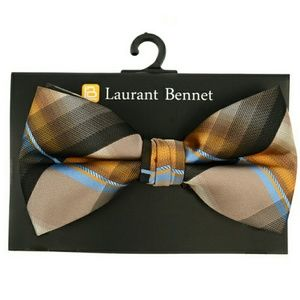 Laurant Bennett Other - Brown Plaid Bow Tie