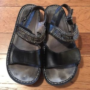 Alegria Shoes - Alegria black sandals with silver beading. Size 39