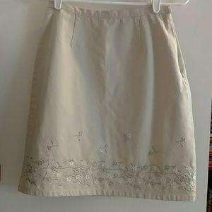 Dresses & Skirts - Cotton khaki colored skirt