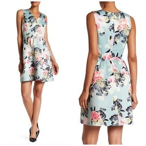 NWT Cece by Cynthia Steffe Floral V Neck Dress