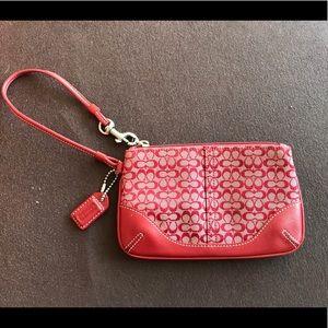 Coach Handbags - COACH Red Wristlet