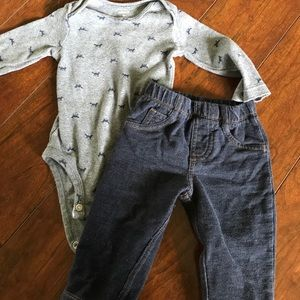 Carter's Other - Baby jeans and long sleeve onesie