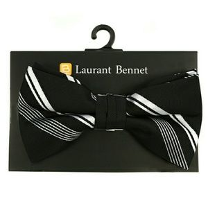 Laurant Bennett Other - Black Striped Bow Tie