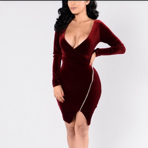 513722e0232 Fashion Nova Velvet style dress