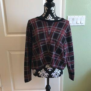 torrid Sweaters - Torrid Plaid Crop Sweater