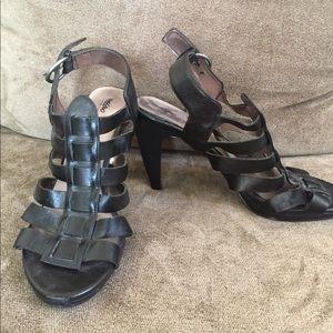 Black Strappy Heels Size 9