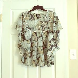 Living Doll Floral Print Blouse