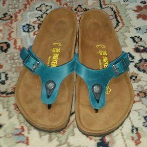 Birkenstock Shoes - Teal Birkenstock Sandals