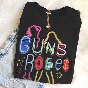 Tops - Guns N' Roses Neon Lights Tee