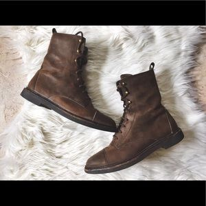 Timberland Shoes - •Timberland• Brown Leather High Combat Boots