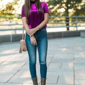 Zara Tops - Zara Purple Velvet Top