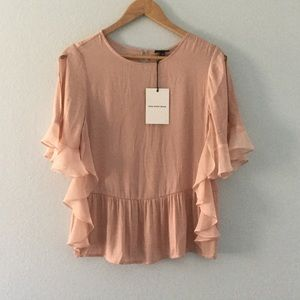 Who What Wear Tops - NWT blush color open bell sleeve breezy top