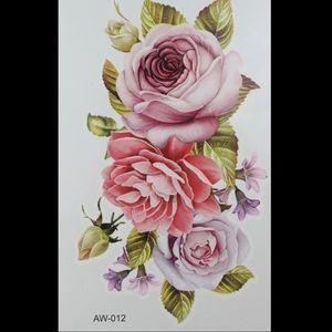 ‼️5 for $25‼️ ROSES TEMPORARY BOHO CHIC TATTOO.