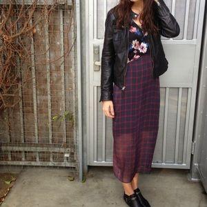 Zara Dresses & Skirts - Zara Checkered Floral Dress