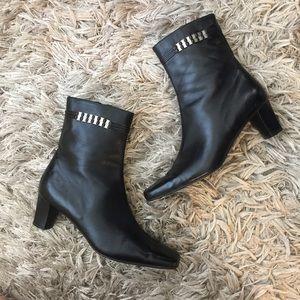 Salvatore Ferragamo Shoes - Salvatore Ferragamo Leather Ankle Booties