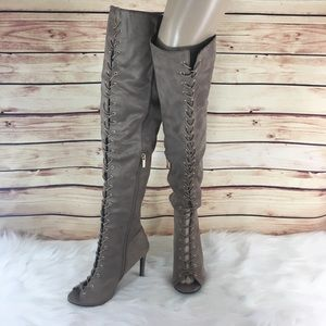 Anne Michelle Shoes - ✨ Mocha lace up over the knee heeled boots