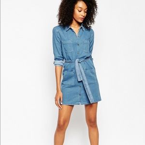 NWT ASOS denim dress size 10