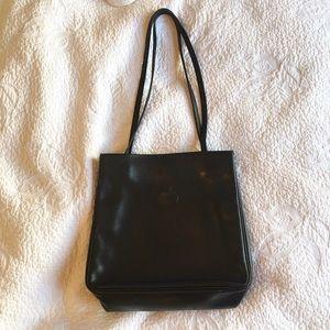 Longchamp Handbags - Vintage Longchamp Black Leather Shoulder Bag
