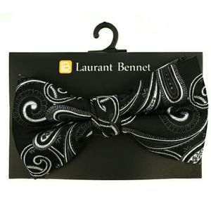 Laurant Bennett Other - Black Paisley Bow Tie
